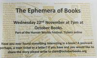 ephemera of books flyer