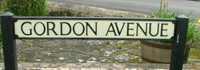 Gordon Avenue sign, Portswood, Southampton