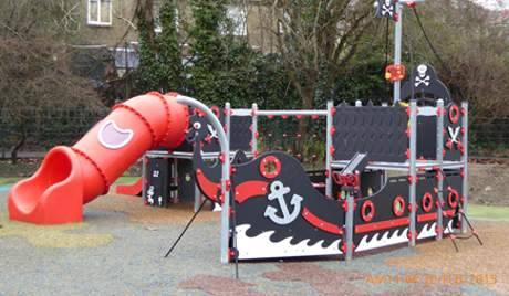 Portswood Recreation Ground pirate ship play equipment