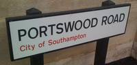 Portswood Road sign