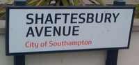 shaftesbury avenue sign