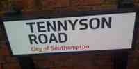 tennyson road sign