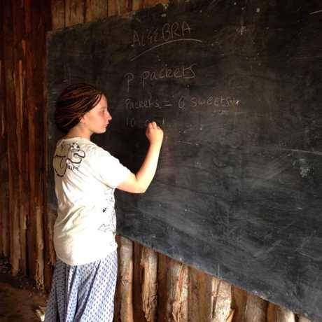 Lucy Lawrenson teaching in Kenya