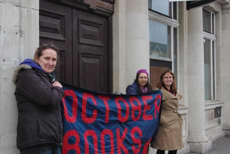 October Books team outside former NatWest bank in Portswood Southampton