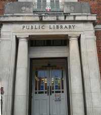 burgess road library front door