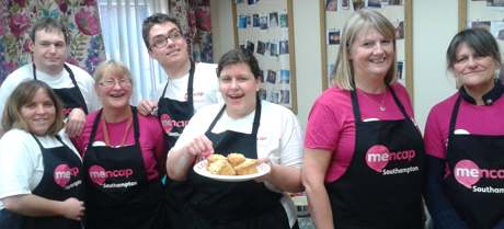 Mencaps Cafe Down the Lane crew in Portswood