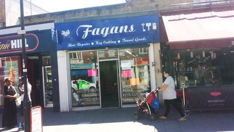 Fagans shoe repair shop, Portswood Southampton