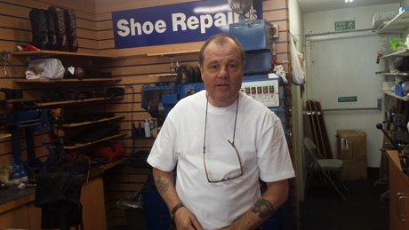 Kevin Fagan, Fagans shoe repair shop Portswood Southampton
