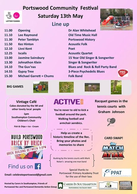 Portswood Community Festival line up