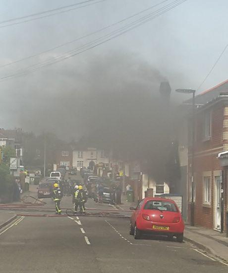 Lodge Road chip shop fire