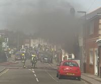 Lodge Road chip shop fire