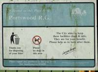 Tatty old Portswood Rec sign